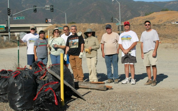Helping out at the cleanup were, from left, John Watson, Karla Cortez, Tracy Davis, Bob Hafner, Martin Lange, Barbara Paul, Dave Davis, Ken Brooks and Rob Mucha. Not pictured are Melissa Deleo, Jannlee Watson and Adam Eventov.