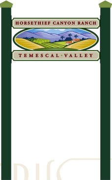 THESE SIGNS, IDENTIFYING EACH OF THE NEIGHBORHOODS WITHIN TEMESCAL VALLEY, WILL SOON BE PLACED THROUGHOUT THE COMMUNITY.