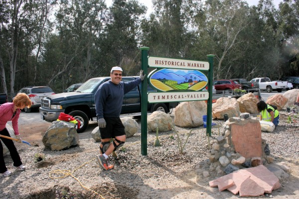 We Are Temescal Valley Beautification Committee Chairman Bob Hafner is responsible for coordinating all the community signs popping up throughout Temescal Valley.