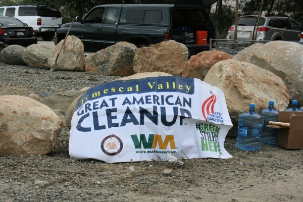 This was the 7th Annual Temescal Valley Great American Cleanup.